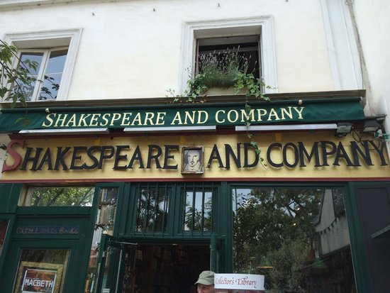 Librairie Shakespeare and Company : outside
