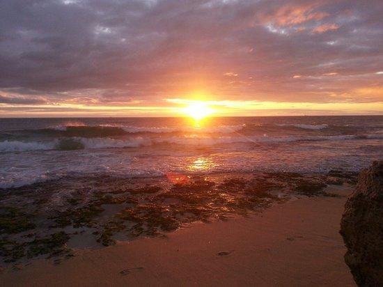 Sunset at city beach