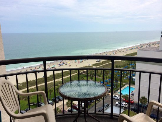 Meridian Plaza: Traditional Oceanview King 1205: View from Balcony Ocean side