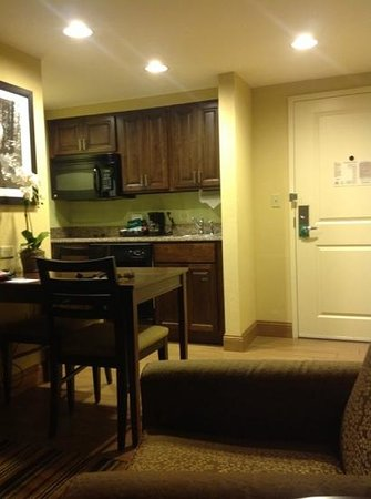 Homewood Suites by Hilton Charlotte/Ayrsley : lounge/kitchen