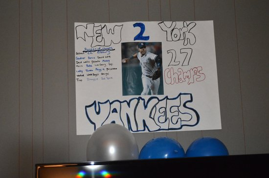 Kimpton Onyx Hotel: They made this poster for my sons 16th. He is a big fan. So nice!