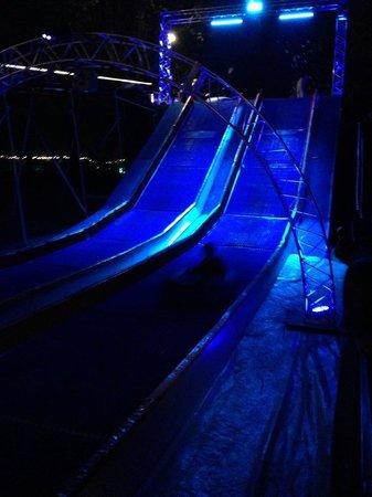 Phoenix Zoo : winter slide at Zoolights