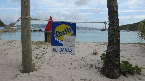 Ali Baba's: Sign out front across the street. Also View from restaurant