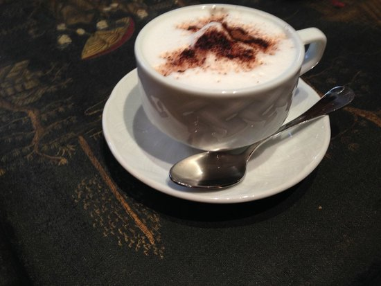 West-End Hotel : Complimentary Cappuccino While Waiting for the Room to Be Ready