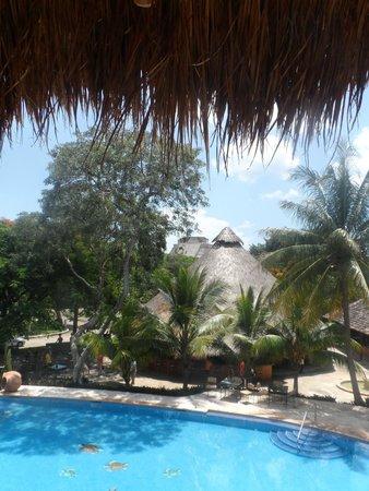 Hotel Hacienda Uxmal Plantation & Museum: vista desde el balcon de habitaciones