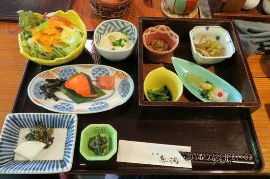 Kurokawa Onsen Okunoyu: breakfast