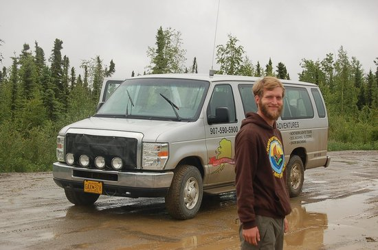 1st Alaska Tours: Mike and the van we traveled in.