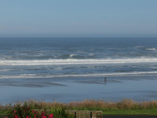 The Yachats Inn: Lovely grounds, flowers, view