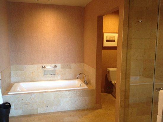 Westin St. Louis : Master bath in executive suite