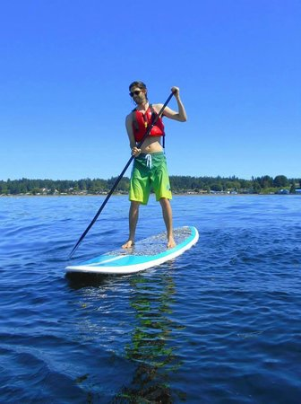 At Nautica Tigh Bed & Breakfast: Stand-Up Paddle Boarding rentals at our beach.