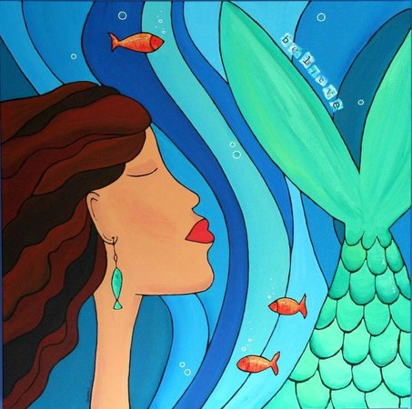 At Nautica Tigh Bed & Breakfast: Mermaid ~ Art by Sabine Kearns
