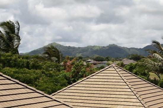 Koloa Landing Resort: View from the rear balcony toward the mountains