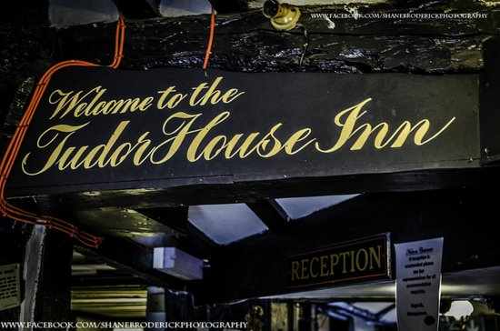 The Tudor House: welcome sign
