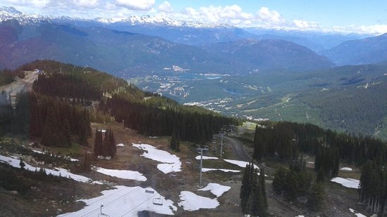 The Rocky Mountaineer Train: Looking down on Whistler