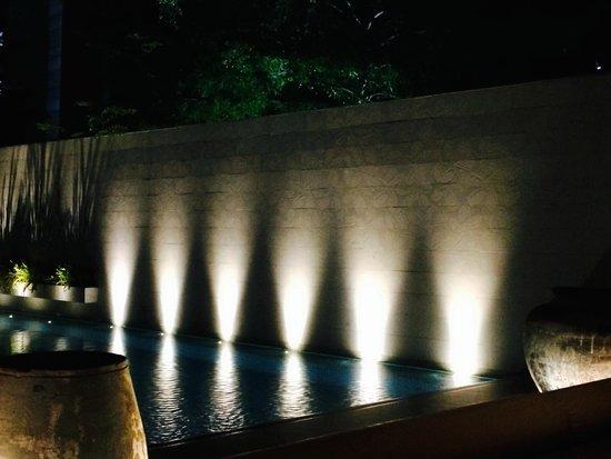 COMO Metropolitan Bangkok: Pool wall from dining at Nahm