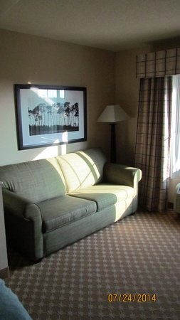 Country Inn & Suites By Carlson, Savannah Gateway : Sofabed in the sitting area