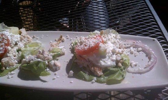 Demetri's Woodstone Taverna: Lettuce Chicken Wrap--- loved it!