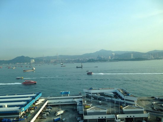 Courtyard Hong Kong: The view towards Kowloon and bridges linking all the islands ..