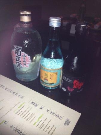 Osaka : Fresh Sake: Kikumasamune Taru: dry and aroma of wood, Kikusui Junmai Ginjo: fruity but dry, Nanb