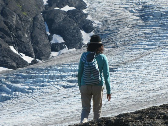 Harding Ice Field Trail: Gaining altitude...