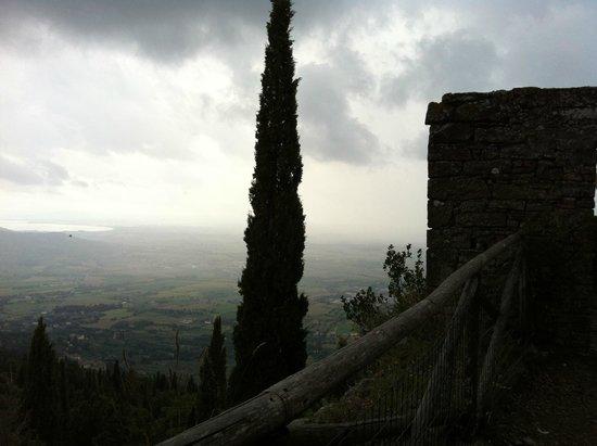 Scorcio panoramico dalla Fortezza di Girifalco a Cortona