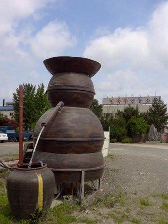 Hwasun-gun, Güney Kore: Model still outside the museum