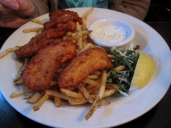 Rendezvous Grill: Salmon Fish & Chips