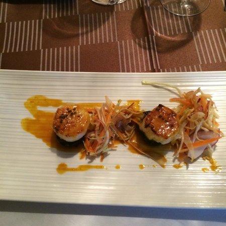 Hotel Le Vinois restaurant: saint jacques
