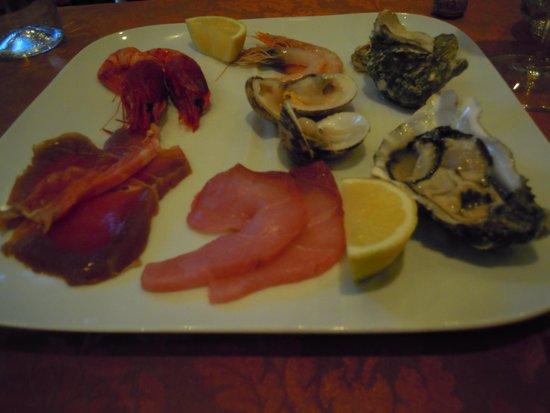 Il Clandestino: piatto pesce crudo