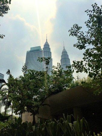 Grand Hyatt Kuala Lumpur: View of Petronas Towers from pool area.