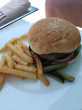 Four Seasons Resort Langkawi, Malaysia: A good wagyu burger by the pool