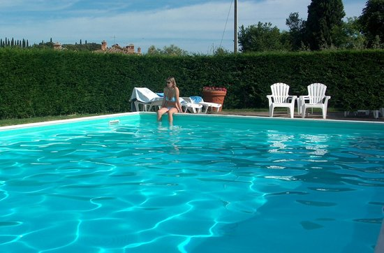 Country House Podere Casalunga : At the pool