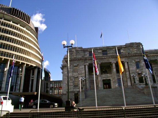 Les bâtiments du Parlement : Beehive and Parliament