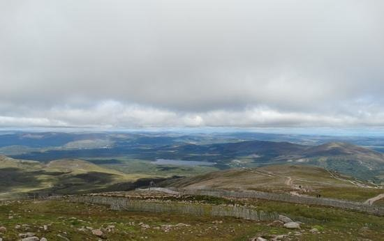 Ardlogie Guest House : the view down on the local area from Cairngorm mountain