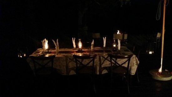 Mvuradona Safari Lodge: Dinning under the Stars