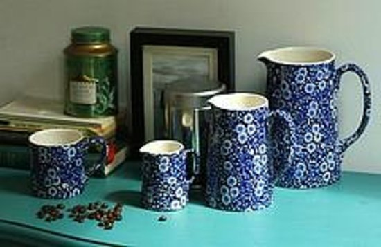 Middleport Pottery - Home of Burleigh: Blue Calico remains one of the most popular Burleigh patterns