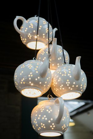 Middleport Pottery - Home of Burleigh: The unique lighting, shows off the skills of our dedicated workforce