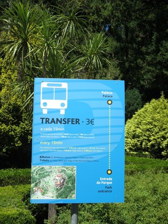 Park and National Palace of Pena: Pena Palace shuttle bus