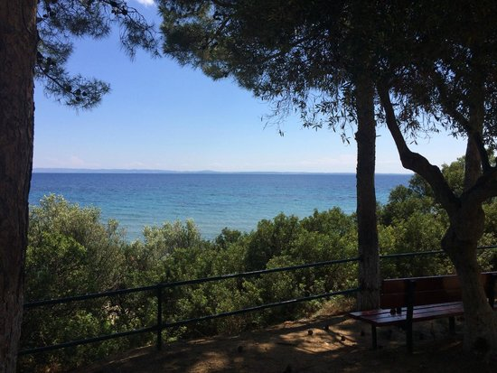 Trikorfo Beach Resort: Вид на море