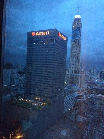 Novotel Bangkok Platinum Pratunam: View from Room - Can see Amari and Baiyoke