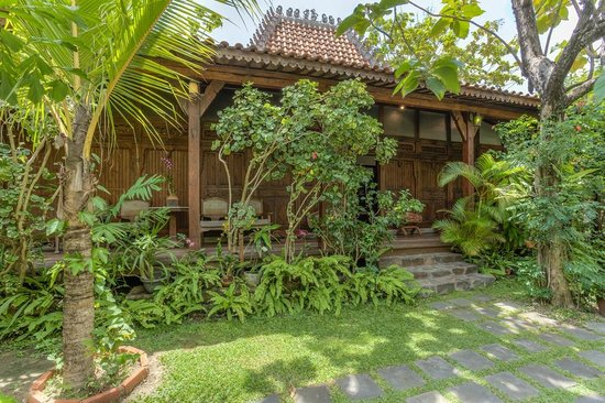 Villa Kampung Kecil: A view on of our traditional Indonesian teak villas