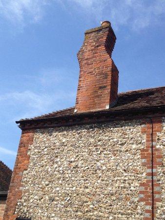 The Bulls Head: Their quirky kinky chimney!