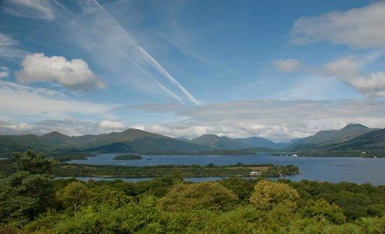 Oak Tree Inn: View of Loch Lomond from Inchcailloch Island