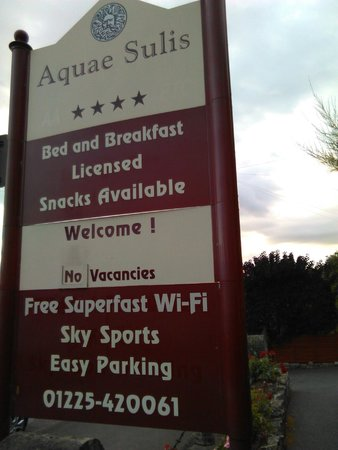 Aquae Sulis Guest House: lovely free wi-fi!