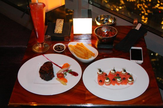 At.Mosphere: The food was well presented and of good quality