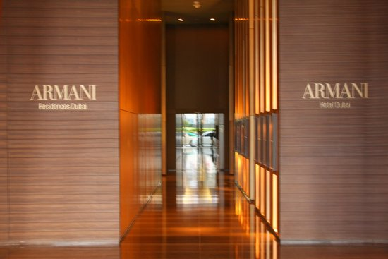 At.Mosphere Restaurant: access to atmosphere is thru Armani Hotel Lobby
