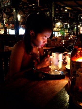Tir Na Nog Restaurant : my lovely girlfriend.