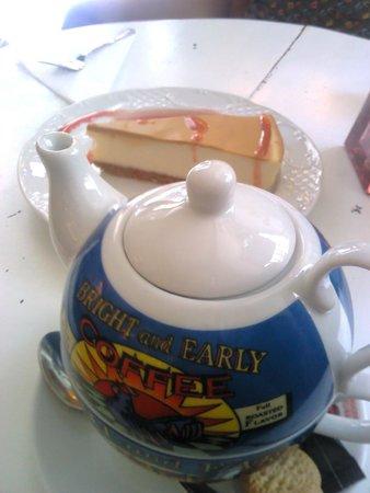 Cafe de la Luz: Tarta casera de queso con dulce de leche !!!