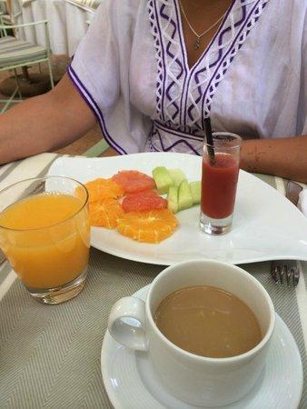 Les Jardins de la Medina : petit déjeuner
