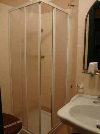 Hotel Posta : Cuarto de baño muy pequeño